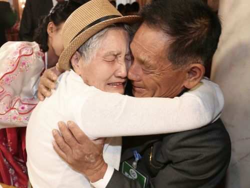 A Korean mother and son were reunited after more than six decades apart