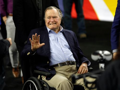 George HW Bush hospitalized in Maine