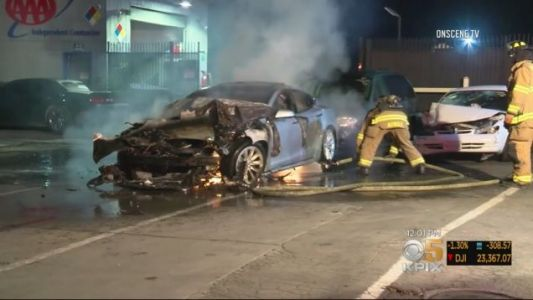 Fighting an Electric Vehicle Fire Is Still a New and Dangerous Concept