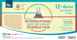 Auckland to Celebrate International Day of Light Science Fair This Weekend