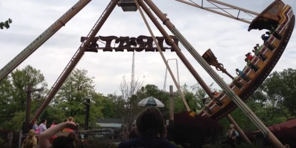 Kids at a theme park got trapped on an out-of-control swinging ship ride after the brakes failed