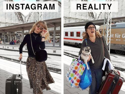 A woman recreates Instagram influencer's photos to show what life is really like - and the side-by-side photos are hilarious