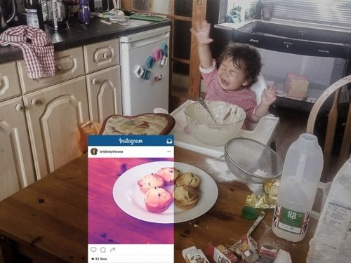 These 5 photos show the real, messy, unglamorous life behind those perfect Instagram shots