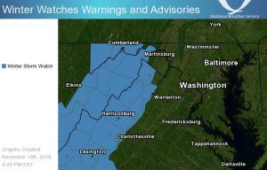 Winter storm watch - parts of Washington