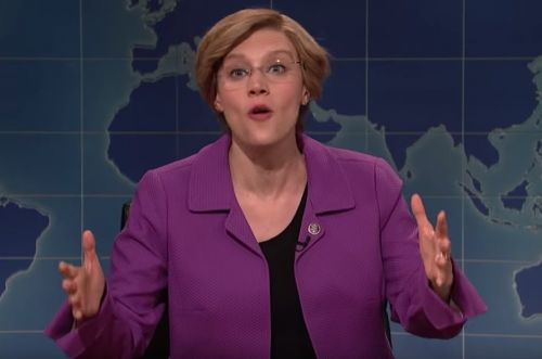 Kate McKinnon's Elizabeth Warren takes on 'Donald Jackass Trump' on SNL's Weekend Update