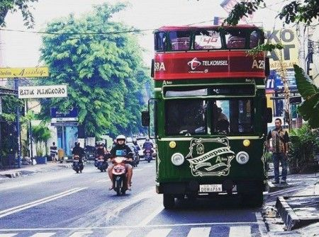 Yogyakarta's double-decker bus enables tourists to explore Maliaboro