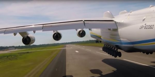 Fly alongside the world's largest airplane with this unusual video