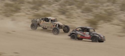 Watch This Poor Baja Bug Get Punted To Oblivion By A Bigger Car