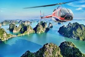 VNH North starts offering first-ever tourism helicopter flights over Ha Long Bay