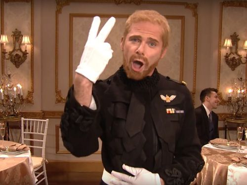 'SNL' hosted its own royal wedding reception in a hilarious skit where Prince William twerks