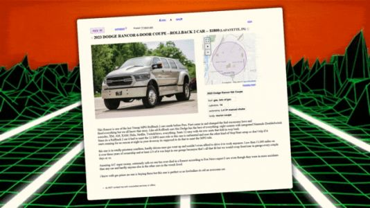 Craigslist Ads From The Future: 2023 Dodge Rancor Six-Door Coupe