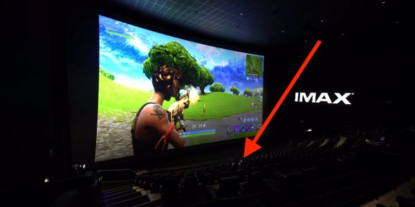 This YouTube video shows what it's like to play 'Fortnite' on an 80-foot IMAX screen