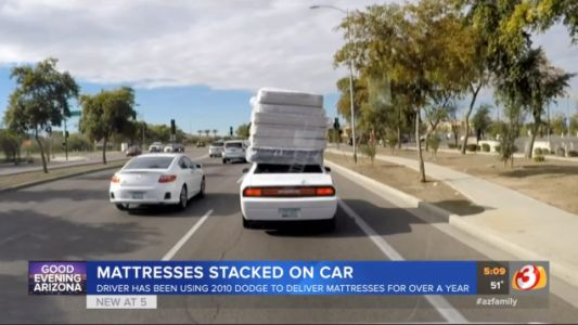 If Hauling a Half-Dozen Mattresses Atop a Dodge Challenger Is Wrong, I Don't Want to Be Right