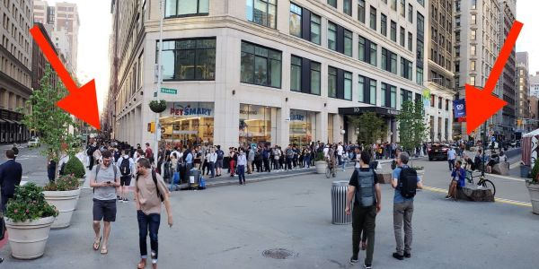 People were lining up around a New York City block to buy this $530 Android phone