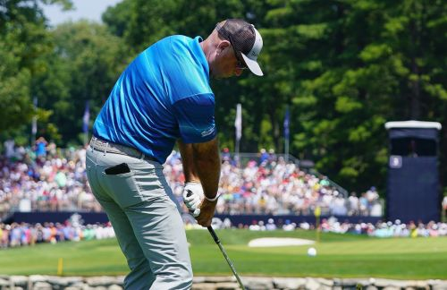 Golf's most famous bald head has another horrifying tan line at the PGA Championship