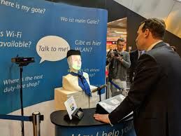 Robot FRAnny answers your questions in Frankfurt Airport