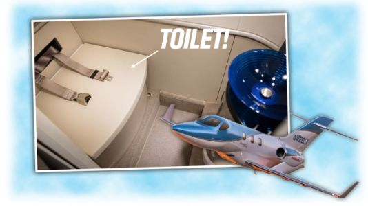 New HondaJet Has A Toilet With Seat Belts, Other Lesser Improvements
