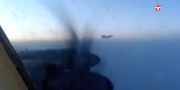 Here's footage inside the Russian Tu-95 as it is escorted by F-22s last week off the coast of Alaska