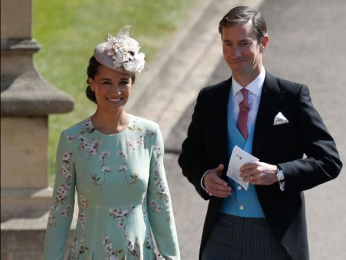 Pippa Middleton arrived at the royal wedding - and it's the first big fashion moment of the day