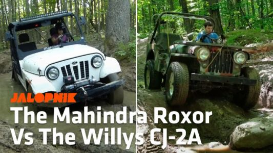 Here's How The Mahindra Roxor Compares To A 1948 Willys CJ-2A Jeep Off-Road