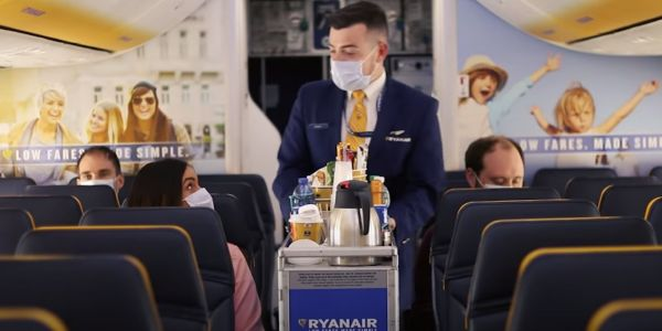 Ryanair, one of the world's biggest airlines, plans to run 40% of its flights from June, but people will have to ask permission to use the bathroom