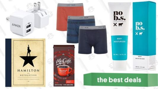 Saturday's Best Deals: Qi Charging, Skincare, Boxer Briefs, and More