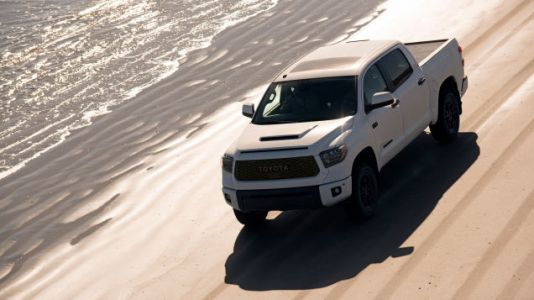 The Toyota Tundra TRD Pro Has a Hood Scoop on Its Hood Scoop