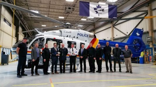 Airbus delivers Canada's first H145 to the Royal Canadian Mounted Police