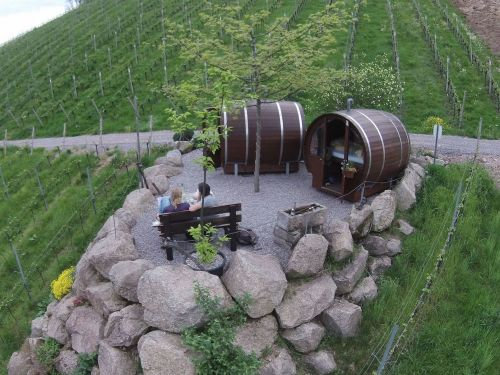 A hotel in Germany lets you sleep in a giant wine barrel - and it's every wine lover's dream come true