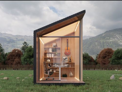 The 68-square-foot Zen Work Pod is a self-contained office designed to minimize distractions working from home - see inside