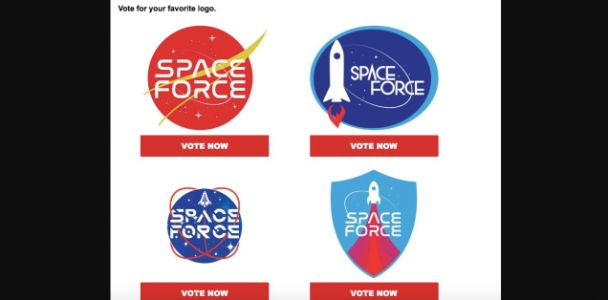 Hardcore Trump Fans Will Be the Ones Picking Out the Space Force Logo
