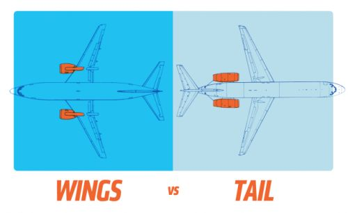 Here's Why Airplanes Have Engines On The Wings Or On The Tail