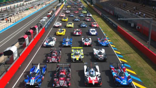 The 2018 Le Mans 24 field has been assembled for the first time today during pre-race testing