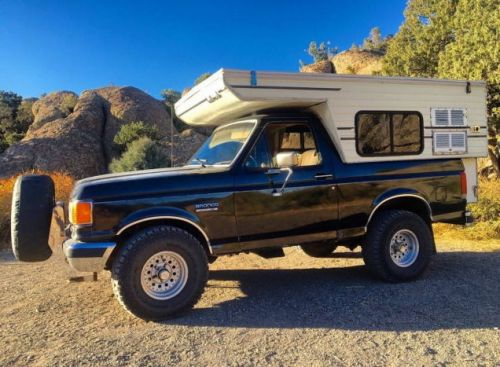 At $11,000, Would You Flip Your Lid Over This 1989 Ford Bronco Pop-Top Camper?