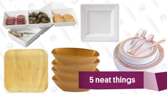 Class Up Your Holiday Parties With Disposable Plates That Don't Look Like Disposable Plates