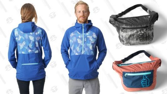 Save 30% On Trew's Pack Jack Rain Coat, Which Collapses Into Its Own Fanny Pack