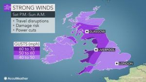 Storm blizzard conditions to rock UK this weekend - travel disruption on the cards