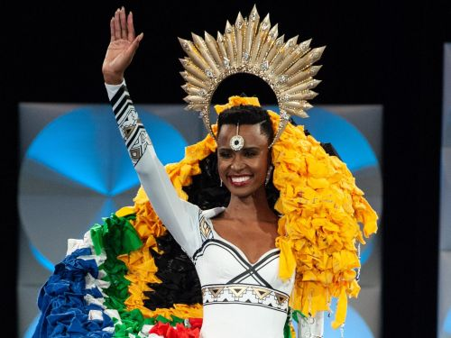 Miss Universe Zozibini Tunzi's national costume contained a powerful message about violence against women in South Africa