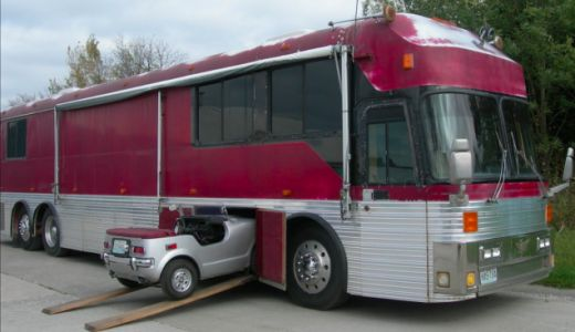 Here's a Bus With a Built-In 1972 Honda Z600 Escape Pod