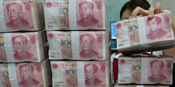 The Chinese yuan's selloff is accelerating and there's no sign of Beijing stepping in