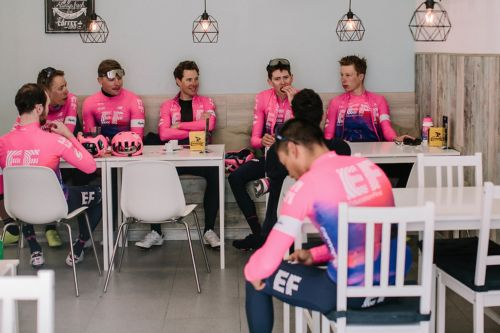 An American Tour de France team has barred its riders from using cellphones at the dinner table during the 3-week race