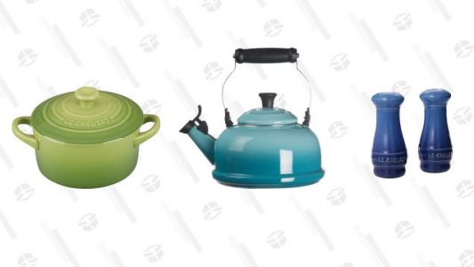 Le Creuset Stoneware, Kettles, and Cast Iron Items Are Up to 30% Off Today