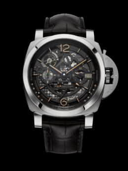 OFFICINE PANERAI L'ASTRONOMO LUMINOR 1950 TOURBILLON MOON PHASES EQUATION OF TIME GMT
