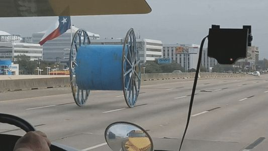 Giant Spools of Wire Attack Houston Highway Three Times in Two Months