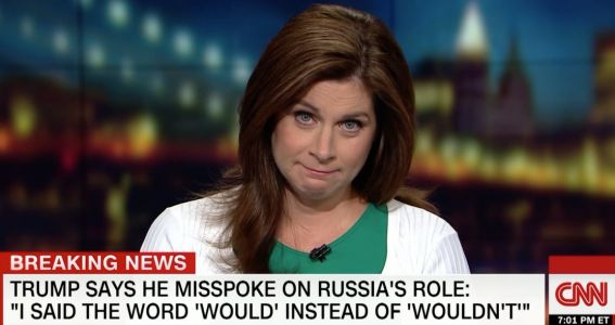 'Did the dog eat his homework too?' CNN's Erin Burnett slams Trump's explanation that he misspoke during his press conference with Putin