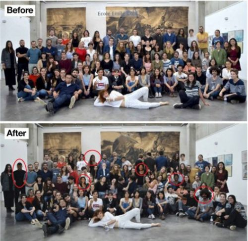 A French art school was caught Photoshopping their students to appear more diverse