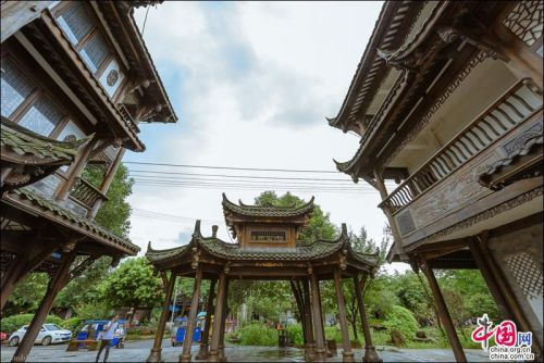 Pingle Ancient Town in Sichuan