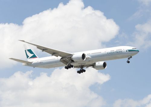 Cathay Pacific spelled its own name wrong on the side of one of its planes
