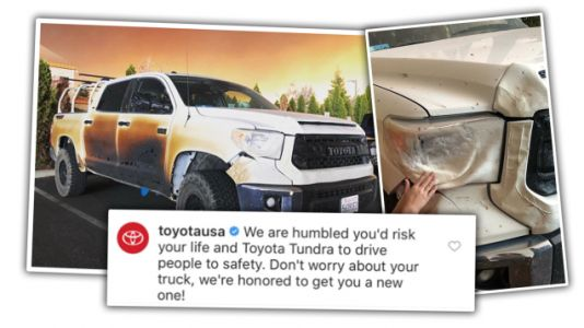Nurse Who Cooked His Truck to Help California Wildfire Victims Getting New Truck From Toyota
