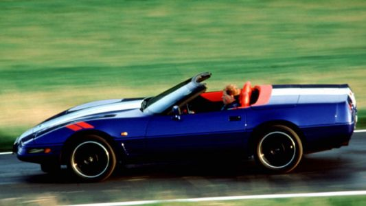 Here you are, driving to the polls to VOTE TODAY in your C4 Corvette Grand Sport convertible!